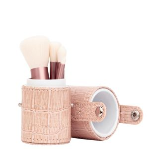 Luxury Vegan Petite Brush Set, Rose Gold Edition